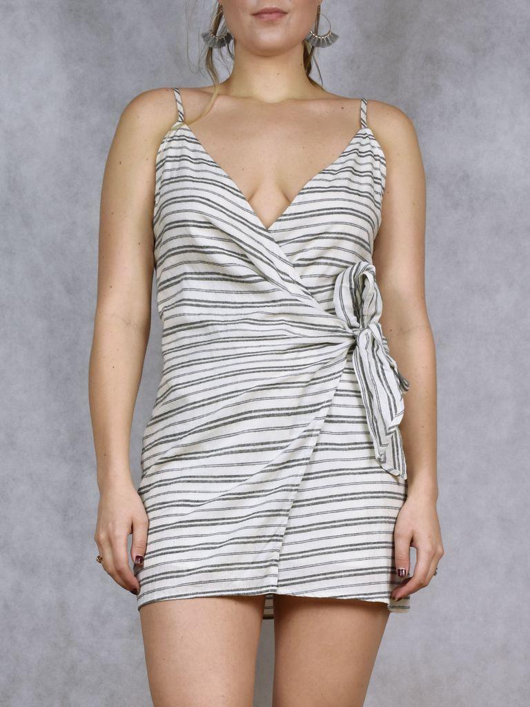Lucie Wrap Tie Dress