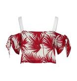 Palm Print Crop Top