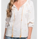 Love Stitch Jacquard Embroidered Blouse