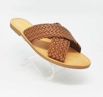 Braided X Strap Sandal