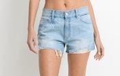 Relaxed Destroyed Hem Short