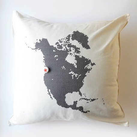 North America Pillow with Star