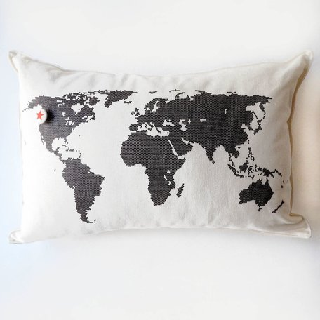World Pillow with Star