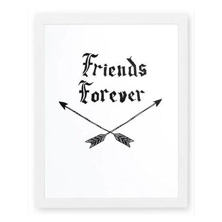 Friends Forever Letterpress Print SALE