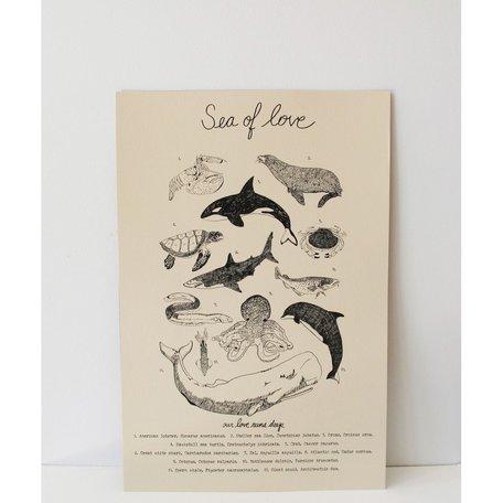 Sea of Love Print <br /> -12x18