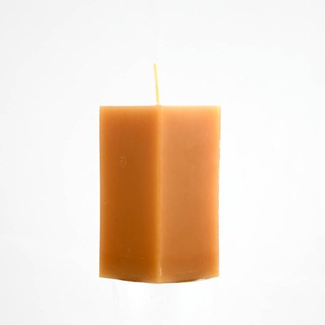 Beeswax Hexagon Pillar Candle