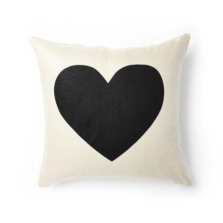 Heart Pillow -Black