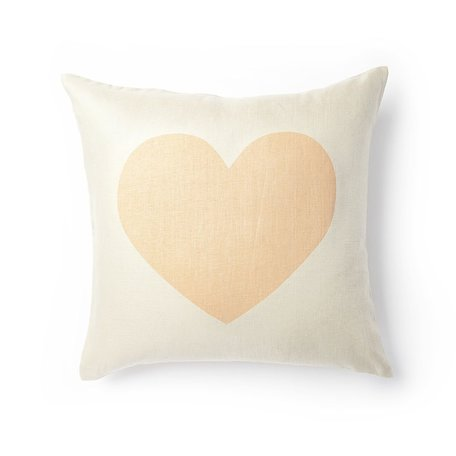 Heart Pillow -Peach