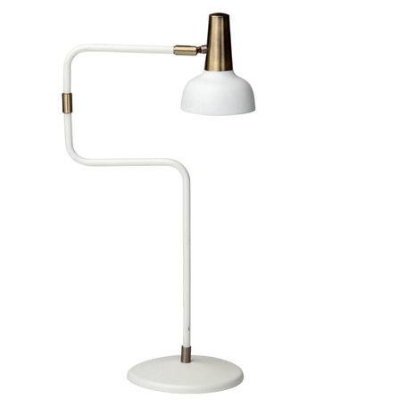 Emmett Table Lamp -White/Antique Brass