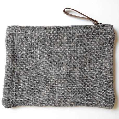 Washed Linen Pouch