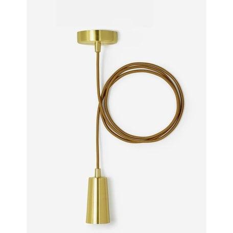 Plumen Drop Cap Pendant Set -Brass