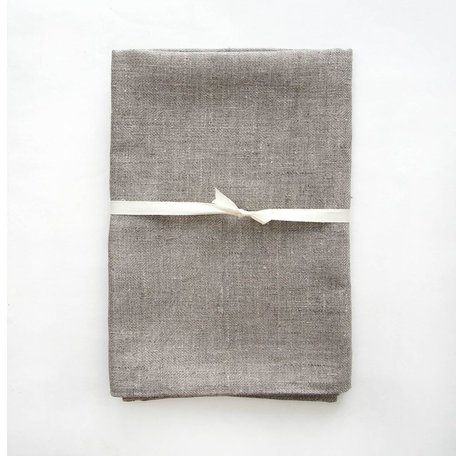 Linen Bath Sheet -Natural Herringbone Weave