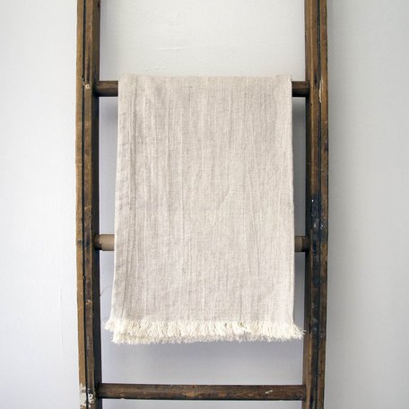 Linen Throw -Natural Twill Weave