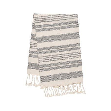 Hammam Hand/Tea Towel -Black Stripe