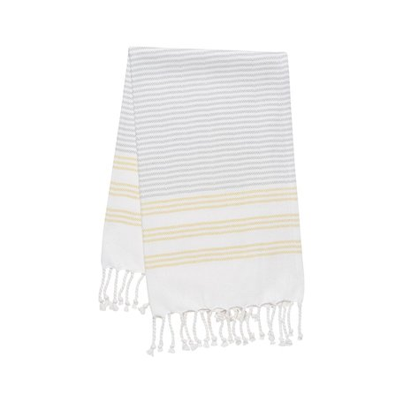 Hammam Hand/Tea Towel -Citron Stripe