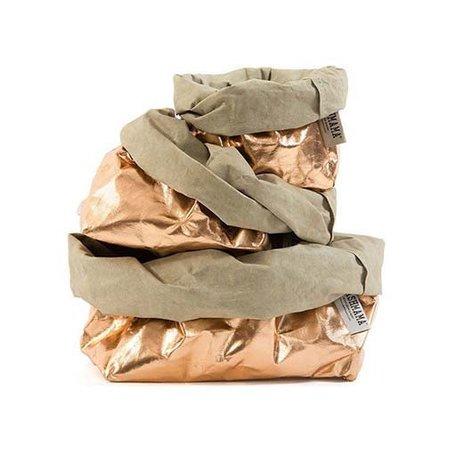 Metallic Rose Paper Bag