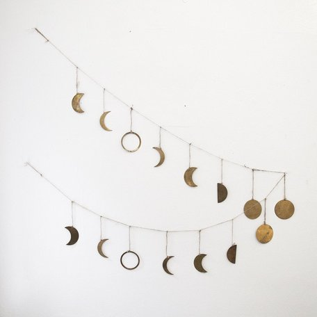 Phases of the Moon Garland -Brass