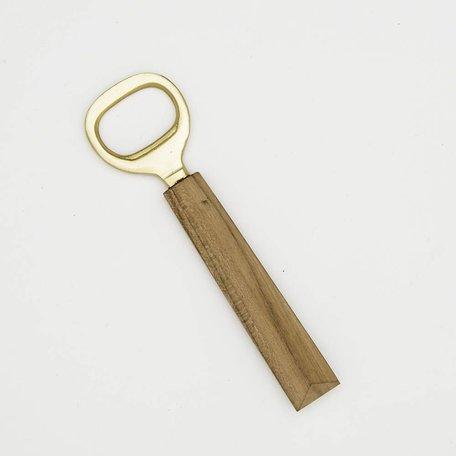 Angled Wood Bottle Opener -Teak