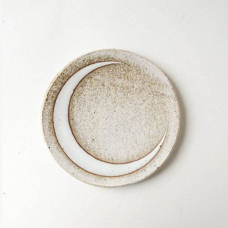 Glazed Cresent Moon Dish -Small