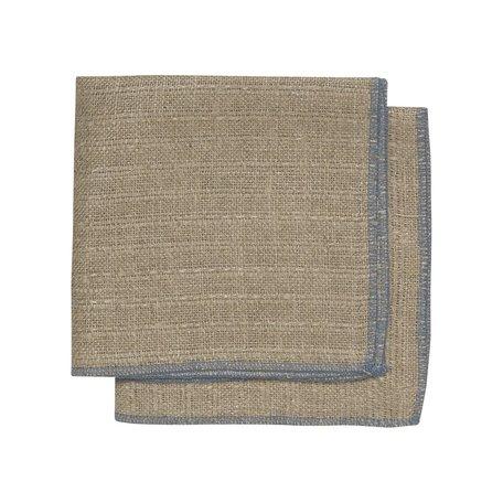 Linen Dishcloth Set/2 -Blue