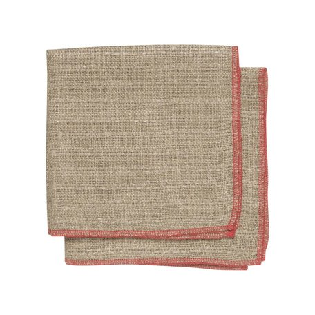 Linen Dishcloth Set/2 -Red