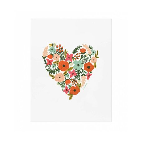 Floral Heart Print -Assorted Sizes