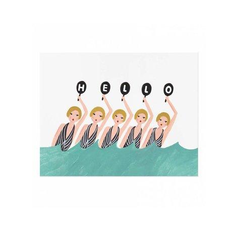 Synchronized Swimmers Print 8x10