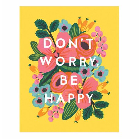 Don't Worry, Be Happy Print 16x20