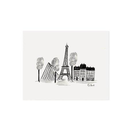 Paris Sketch Print 8x10 SALE