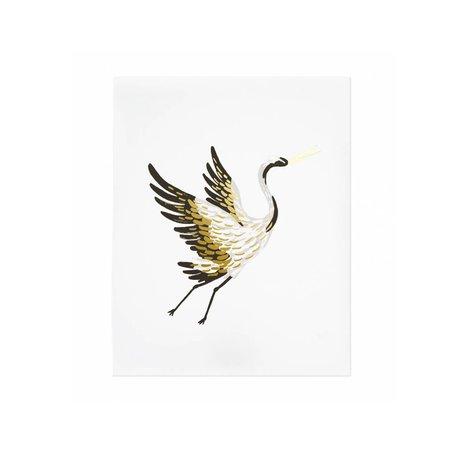 Crane Art Print 8x10