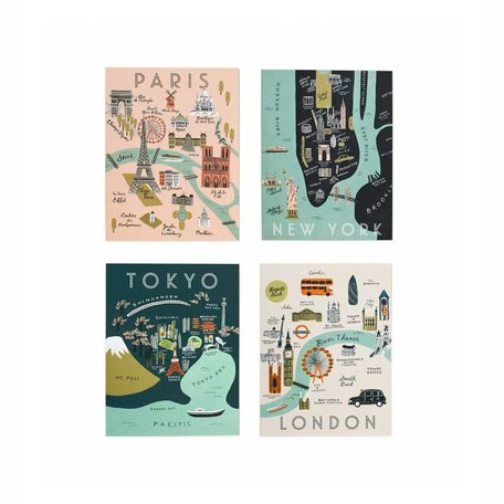 Assorted City Map Card Box/8