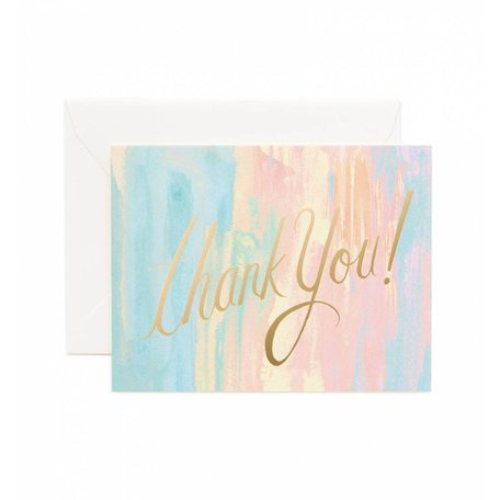 Watercolour Thank You Card Set