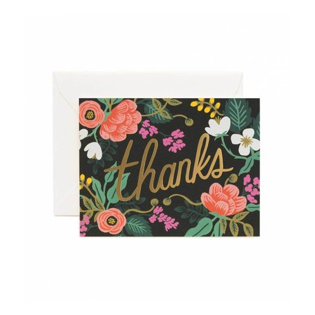 Birch Floral Thanks Card Box/8