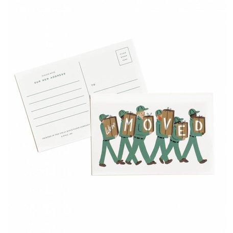 We've Moved Postcards