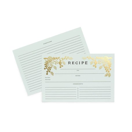 Golden Garden Recipe Cards