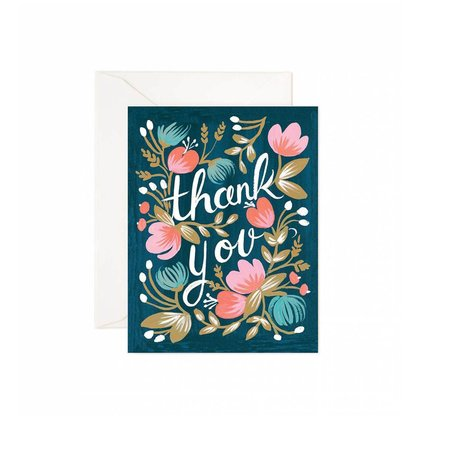 Midnight Garden Thank You Card<br />