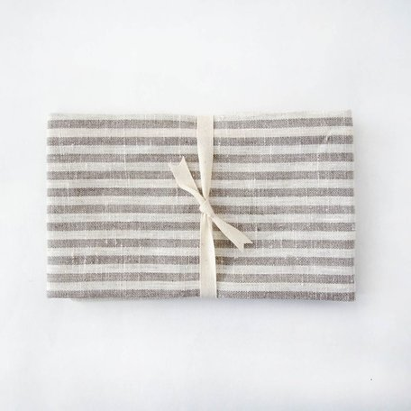 Linen Hand/Tea Towel -Natural Thin Striped