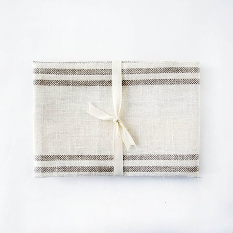 Linen Hand/Tea Towel -Natural Striped