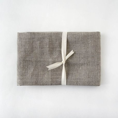 Linen Hand/Tea Towel -Natural Herringbone Weave