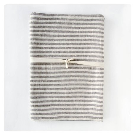 Linen Bath Sheet -Natural Thin Striped