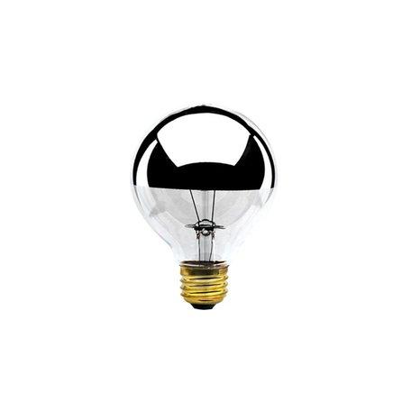 40W Half Chrome Globe Bulb