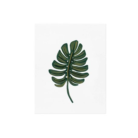 Monstera Leaf Print -8x10