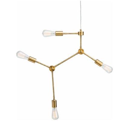 Pratt Pendant Lamp -Antique Brass