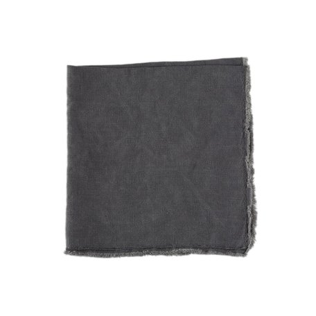 Charcoal Fringed Napkin -Set/2