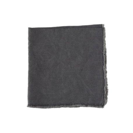 Charcoal Fringed Napkin -Set/2