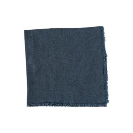 Navy Fringed Napkin -Set/2