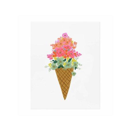 Ice Cream Cone Print 8x10