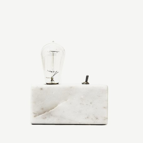 Graaff Marble Lamp -Cream
