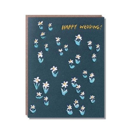 Happy Wedding Meadow Card