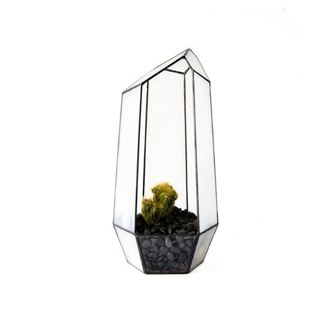 Crystal Stained Glass Terrarium -Large